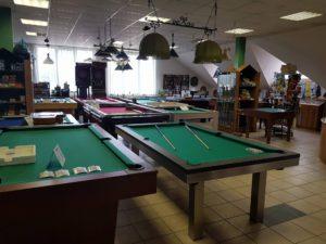 Biliardové stoly na predajni v Trenčíne