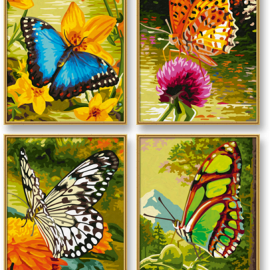 Motýle (4 obrazy v balení 18 x 24cm)