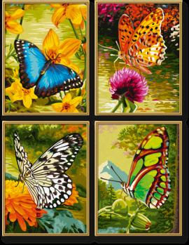Motýle (4 obrazy v balení 18 x 24cm) Schipper