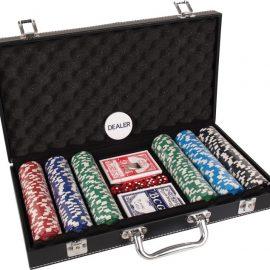 Poker kufrík leather 300