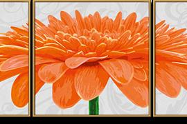 Chryzantéma oranžová (40 x 120 cm)
