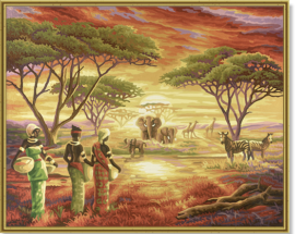 Malebná Afrika (40×50)