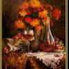 Jesenné astry maľovanie