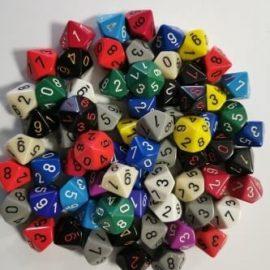 Kocky D10 jednofarebné