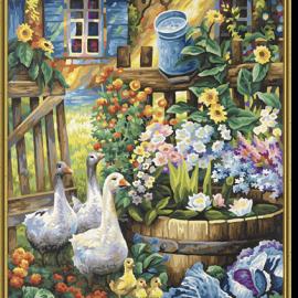 Život na vidieku – husi (40 x 50 cm)
