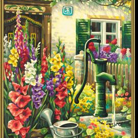 Život na vidieku – studňa (40 x 50 cm)