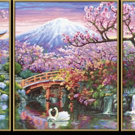 Čerešňové kvety v Japonsku (80 x 50cm)