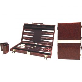 Backgammon hnedý 38 x 48 cm