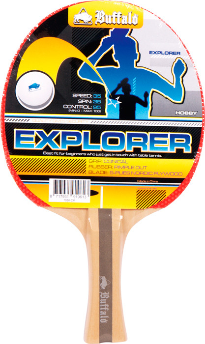 Pingpongová raketa Explorer