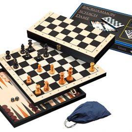 Backgammon šachy, dáma