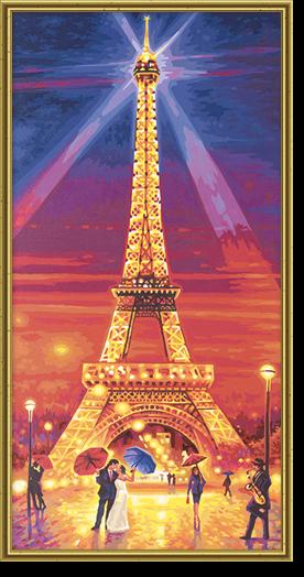 Eiffelova veža v noci