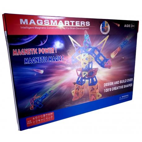 Magnetická stavebnica MagSmarters 216ks