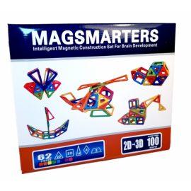 Magnetická stavebnica MagSmarters 62ks