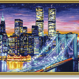 Nočný Manhattan (80x40cm)