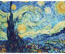 Hviezdna noc Schipper maľovanie podľa čísiel