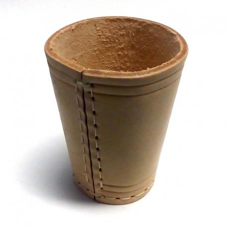 Kockový pohár kožený