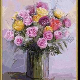 Pastelové ruže (40 x 50 cm)