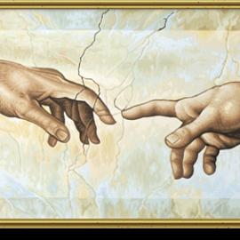 Stvorenie Adama (80 x 40 cm)