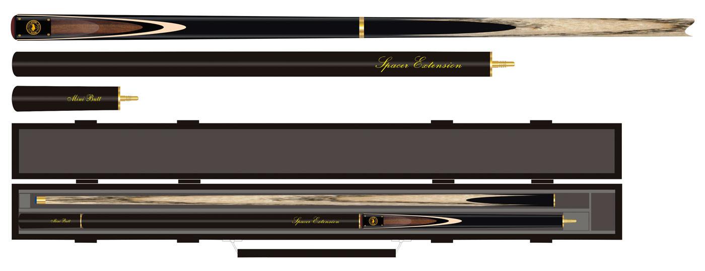 Profesionálne tágo Buffalo Snooker 3/4 Premium Pack