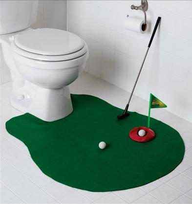 Vtipný darček Golf na WC