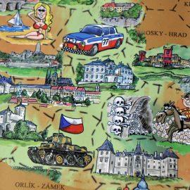 Stieracia mapa Česko