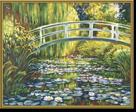Jazero s leknami maľovanie podľa čísiel Claude Monet