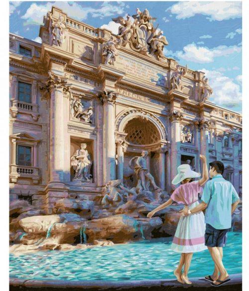 Fontána di Trevi v Ríme maľovanie podľa čísel Schipper