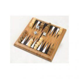 Backgammon mini bambus
