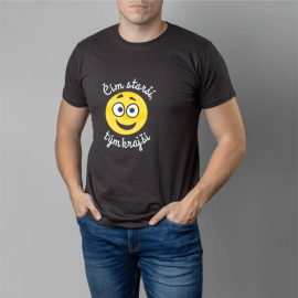 Tričko Čím starší L